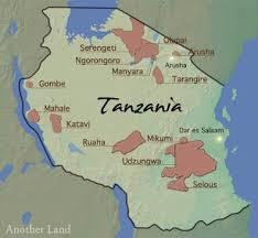 Tanzania Southern map.