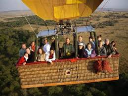 Balloon safari.